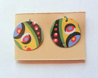 Pop Art Upcycled Jewelry Tin Earring Findings