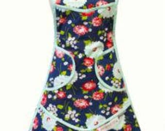 SUMMER SALE - Navy Apron - The Good Life - Bonnie and Camille for Moda Fabrics