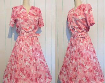 Pink Floral Day Dress Size 10