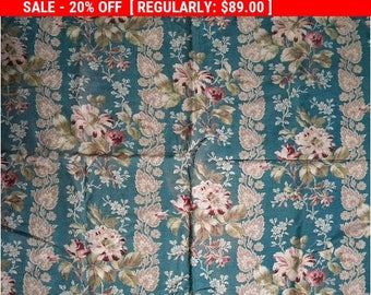 Antique Barkcloth Fabric French Nubby Cotton