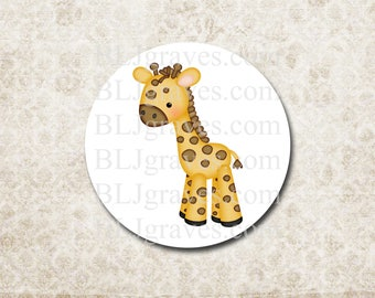Stickers Envelope Seals Baby Boy Girl Giraffe Baby Shower Party Favor Treat Bag Stickers SB011
