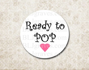 Ready To Pop Stickers Baby Shower Party Favor Treat Bag Sticker SB019