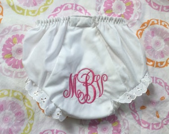Ruffled diaper cover bloomers