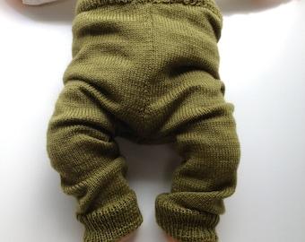 Machine Knit Wool  Longies - Wool Pants Diaper Cover - Small to Medium