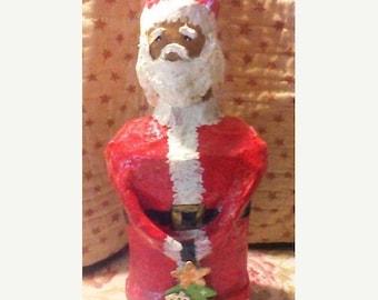 on sale paper mache santa