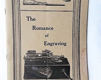 1923 Romance of Engraving Booklet Engraphograph Machine Invention