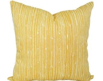 Premier Prints Scribble Stripe Corn Yellow and White Decorative Throw Pillow - Free Shipping