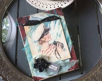 Friendship Card - Summer-themed Card - Vintage Lady Card