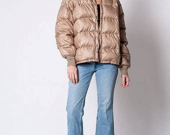 40% OFF CLEARANCE SALE The Vintage Tan Quilted Down Jacket