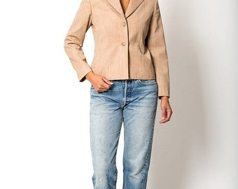 40% OFF The Vintage Tan Pendleton Wool Blazer Jacket