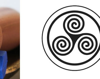 Triple Spiral Wax Seal Stamp
