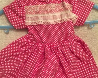Poka dot dress for an 18 inch doll