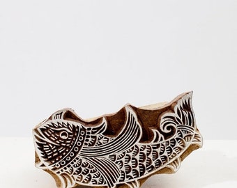 50% off Sale Hand Carved Stamps Fish 203
