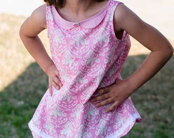 Huge Sale ... Girls A-Line Dress and Tunic PDF Pattern ... Jane's Plain Dress & Tunic Top