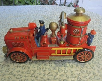 Old Fashion Fire Engine - Toy Fire Engine - Modern Toys - Made In Japan - 1950's