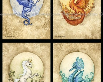 SPECIAL 5x7 four elements SET by Amy Brown