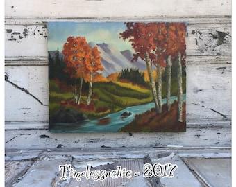 Vintage Painting - Landscape Oil Painting - Oil Painting - Landscape Painting - Nature Painting - Canvas Painting - Vintage Oil Painting