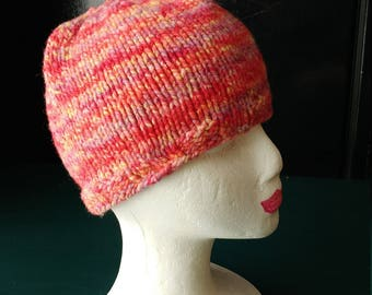 Pink Knit winter hat