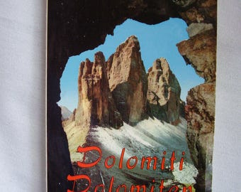 Vintage souvenir photo booklet from The Dolomites, Italy, 1960s