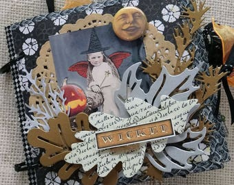 little witches - photo album - journal - vintage style -  NO066