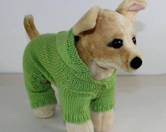 50% OFF SALE madmonkeyknits - Small Dog Hoodie Onesie knitting pattern pdf download - Instant Digital File pdf knitting pattern