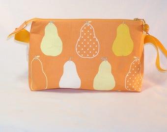 Pears on Orange Tall Mia Bag