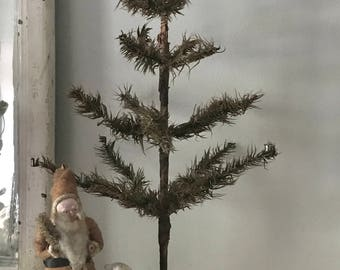 Antique Feather tree, real feather tree, Christmas feather Tree