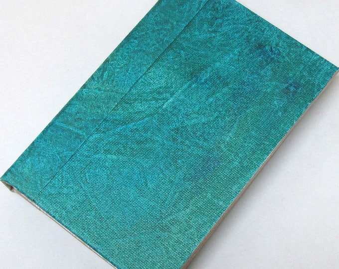 Refillable Journal Handmade Distressed blue green Original 6x4 traveller notebook