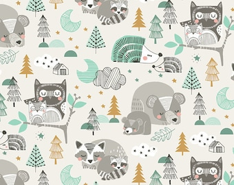 Blend Fabrics by Maude Asbury Sweet Dreams Collection Sleepyheads in Blue