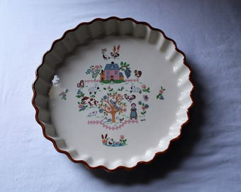 """Vintage Jamestown China """"Country Home"""" Tart or Quiche Dish"""