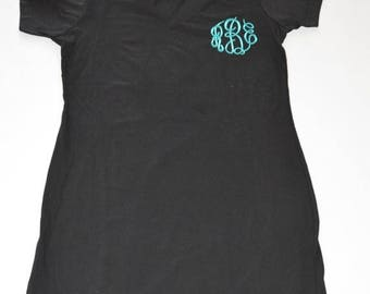 ON SALE Personalized Womens T-Shirt Dress Monogram