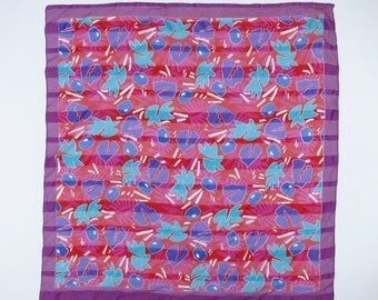 MATISSE // 80s or 90s tropical floral scarf