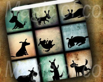 Amusing Little Animals  - 16  2x2 Inch Square  JPG images - Digital  Collage Sheet
