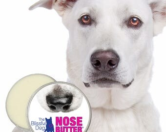 The ORIGINAL Dog NOSE BUTTER® All Natural Handcrafted Moisturizer for Dry or Crusty Dog Noses 4 oz. Tin with Just A Nose Label in Gift Bag