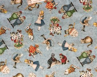 Alice In Wonderland Windham Fabrics, Alice In Wonderland #30850 Characters Fabric, Whistler Studios Alice In Wonderland Fabric
