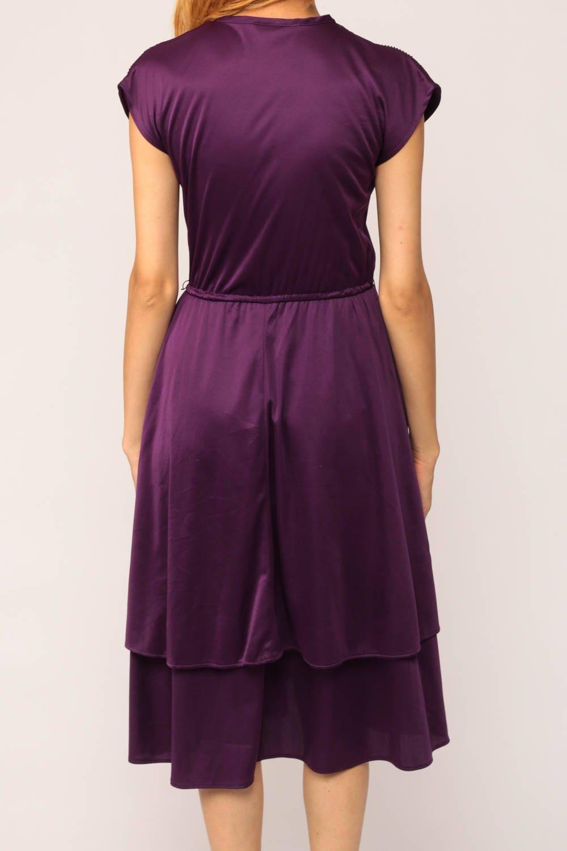 Purple Dress Disco Party Grecian 70s Boho Midi Deep V Neck