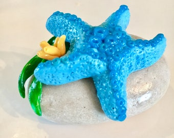 Blue Polymer Clay Starfish