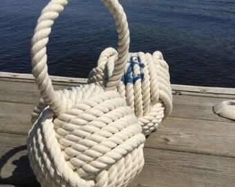 Nautical Rope Doorstop, 1 Cream Doorstop, Nautical Gift for Her, Nautical Doorstop, Nautical Bedroom, Sailors Gift, Handmade Doorstop