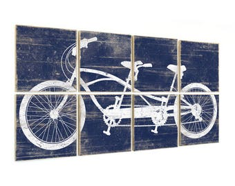 Tandem Bike Print - Tandem Cycle - Living Room Art - Tandem Bike Wall Art - Extra Large Artwork - Wall Art Bike - Large Bike Art