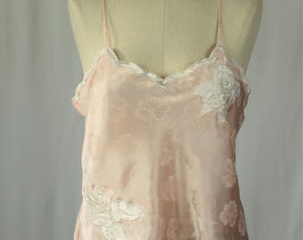 Victorias Secret Camisole - Vintage Peach Satin Cami size medium