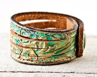 Leather Bijou - Women's Cuffs Bracelets - Gifts Under 50 - Bohemian Gypsy Fashion