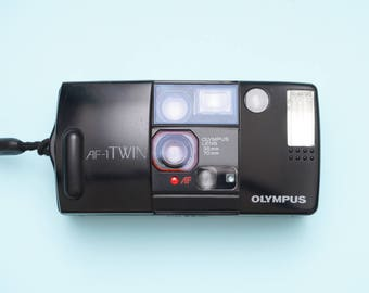 Olympus Infinity AF-1 TWIN 35mm/75mm Point and Shoot Compact Film Camera Fully Working