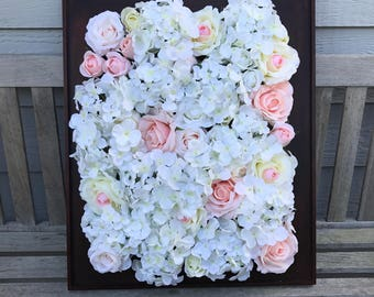 Flower Backdrop, Flower Wall Framed, Event Decor Backdrop