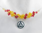"HP Wizard House Lion Beadweaving Necklace ""Courage"""