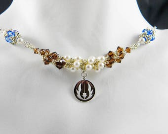 "SW Knight Beadweaving Necklace ""The Light Side"""