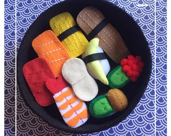 Etsy Pretend food - Play food -  Felt food DX Sushi 9pc Set