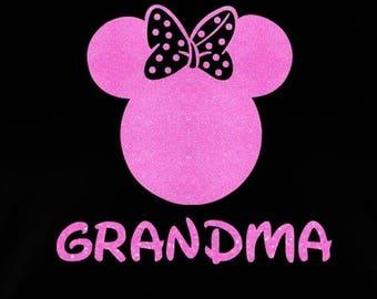 SALE Minnie Mouse Grandma SVG JPEG instant digital file download for vinyl cutters