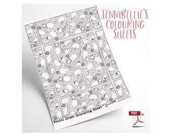 Fruiti Crush Digital Colouring Sheet by Jennibellie