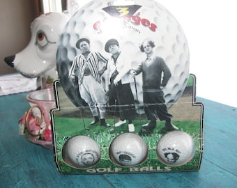 1995  three stooges  collection golf balls