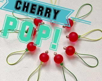 Knitting Stitch Markers  snag free- CHERRY POP